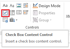 how to create check boxes in word