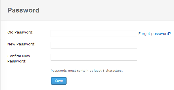 Resetting your yammer account password
