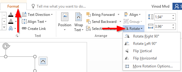 How to rotate, flip or mirror text in Word 2016 and 2019 ...