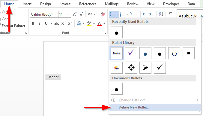 How to change bullets or numbered list color in Word