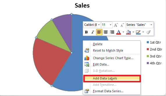 how to change pie chart color in ppt: How to create a chart in excel and word 2016 easytweaks com