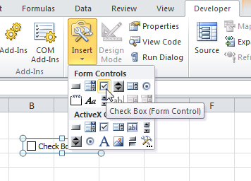 How To Insert Check Boxes Lists In Excel 2016 And 2019 Spreadsheets
