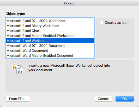 Excel_embed_word_MAC