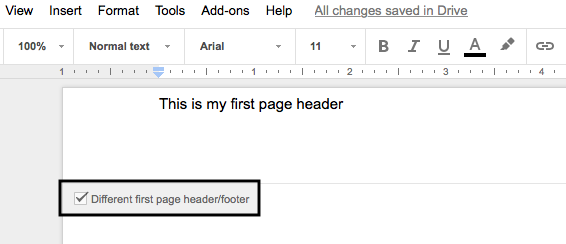 Header_show_different_google_docs
