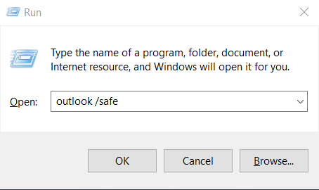 How to open Outlook 2016 & 2019 in safe mode to fix startup issues