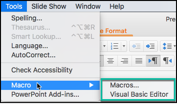 Show development environment on MAC